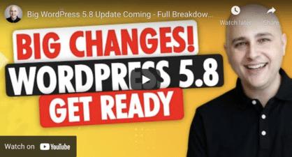 Wordpress 58 Update